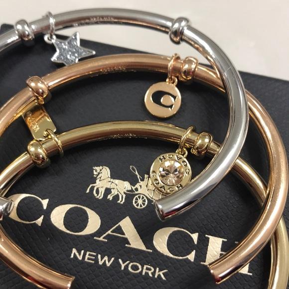 064f37dff Coach Jewelry | 3 Cuff Bangle Set | Poshmark